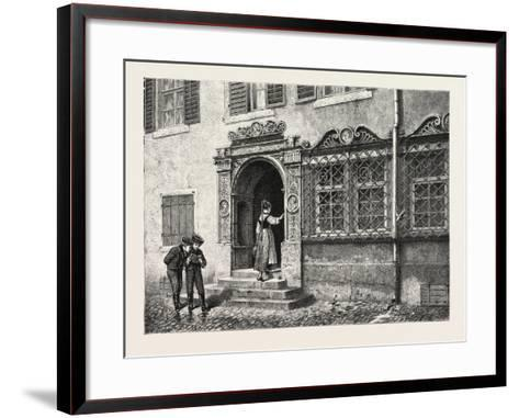 An Old House at Constance, Konstanz, Germany, 19th Century--Framed Art Print