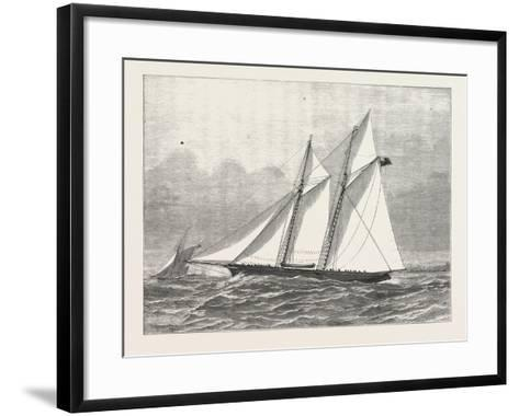 The Prince of Wales's Yacht, Hildedegarde, 1876, UK--Framed Art Print