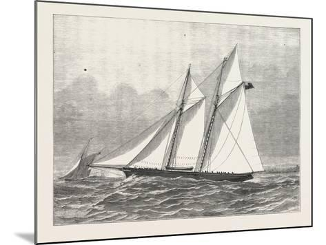 The Prince of Wales's Yacht, Hildedegarde, 1876, UK--Mounted Giclee Print