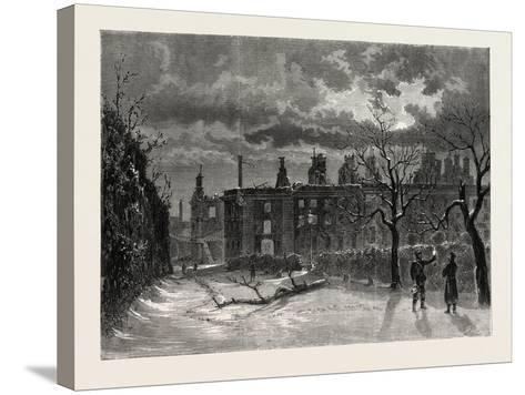 Franco-Prussian War: Ruins of the Palace of Saint-Cloud--Stretched Canvas Print