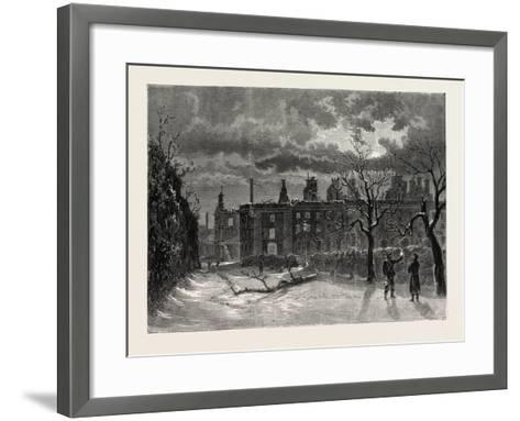 Franco-Prussian War: Ruins of the Palace of Saint-Cloud--Framed Art Print
