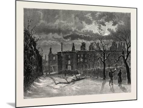Franco-Prussian War: Ruins of the Palace of Saint-Cloud--Mounted Giclee Print