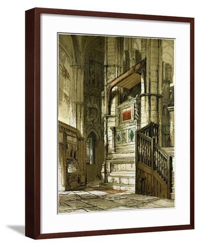 Entrance to the Chapel of Edward the Confessor, UK--Framed Art Print