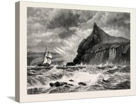 The Entrance to Fowey Harbour, Cornwall, UK, 19th Century--Stretched Canvas Print