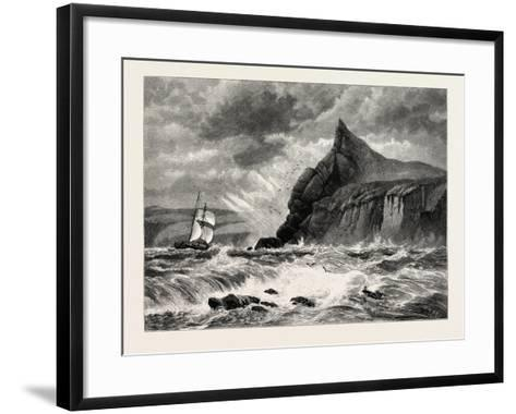The Entrance to Fowey Harbour, Cornwall, UK, 19th Century--Framed Art Print