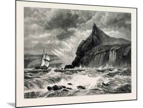 The Entrance to Fowey Harbour, Cornwall, UK, 19th Century--Mounted Giclee Print