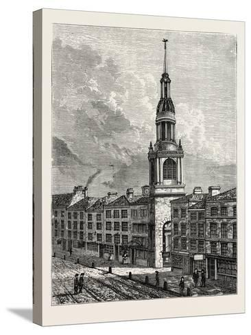 Bow Church Cheapside. from a View Taken About 1750, London--Stretched Canvas Print