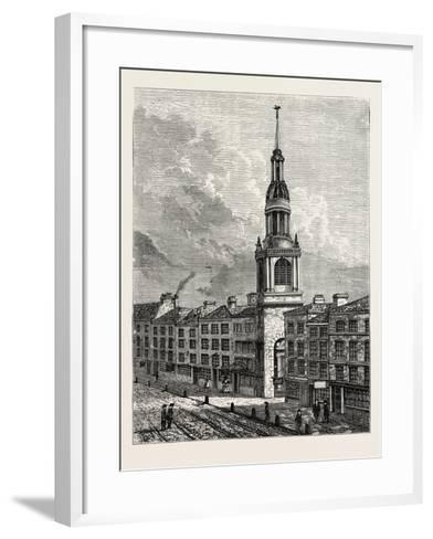 Bow Church Cheapside. from a View Taken About 1750, London--Framed Art Print