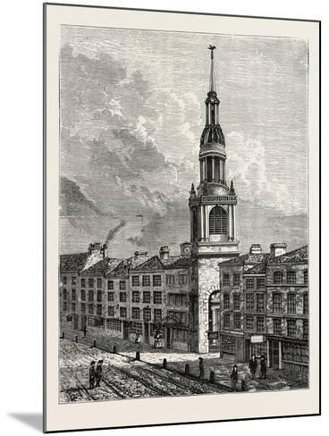 Bow Church Cheapside. from a View Taken About 1750, London--Mounted Giclee Print