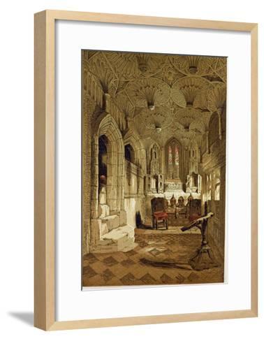 Chantry Chapel Adjoining the Beauchamp Chapel Warwick, UK--Framed Art Print