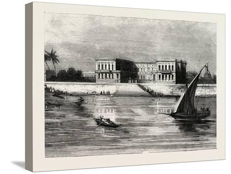 The Summer Palace of the Viceroy at Cairo Egypt, 1882--Stretched Canvas Print