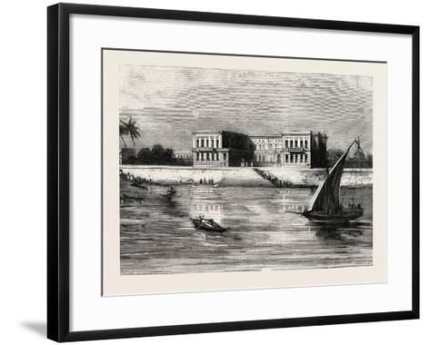 The Summer Palace of the Viceroy at Cairo Egypt, 1882--Framed Art Print