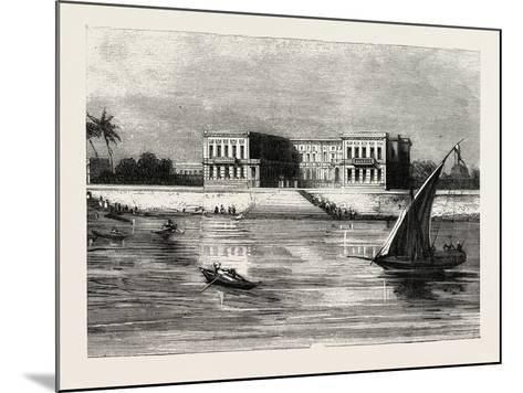 The Summer Palace of the Viceroy at Cairo Egypt, 1882--Mounted Giclee Print