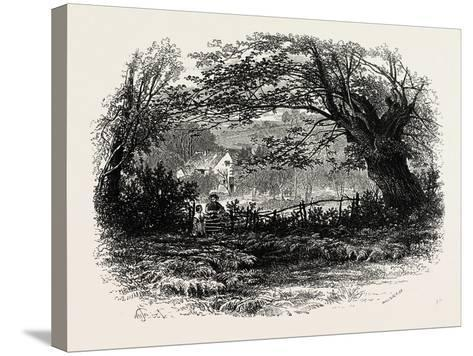 In Depedale, the Dales of Derbyshire, Uk, 19th Century--Stretched Canvas Print