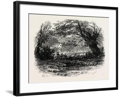 In Depedale, the Dales of Derbyshire, Uk, 19th Century--Framed Art Print