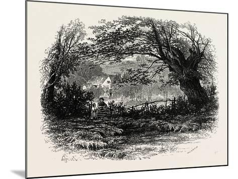 In Depedale, the Dales of Derbyshire, Uk, 19th Century--Mounted Giclee Print