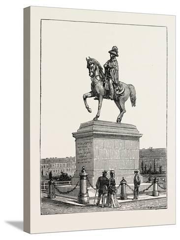 Statue of Prince Schwarzenberg, Vienna, Austria, 1873--Stretched Canvas Print