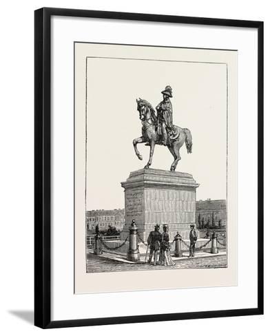 Statue of Prince Schwarzenberg, Vienna, Austria, 1873--Framed Art Print
