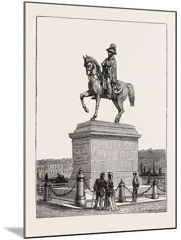 Statue of Prince Schwarzenberg, Vienna, Austria, 1873--Mounted Giclee Print