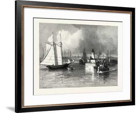 The Harbour-Mouth, Cobourg, Canada, Nineteenth Century--Framed Art Print