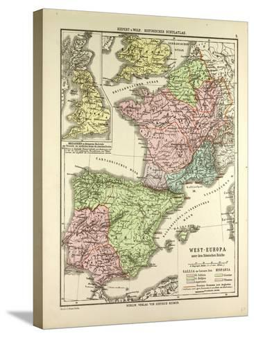 Map of Western Europe and the Roman Empire--Stretched Canvas Print