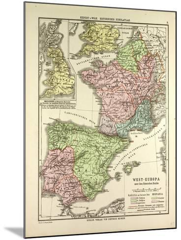 Map of Western Europe and the Roman Empire--Mounted Giclee Print