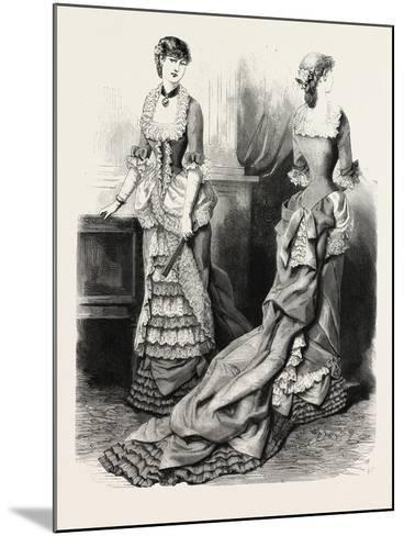 Evening Toilette Front and Back, Fashion, 1882--Mounted Giclee Print