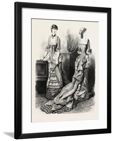 Evening Toilette Front and Back, Fashion, 1882--Framed Art Print
