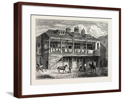 Yard of the Black Lion Whitefriars London--Framed Art Print