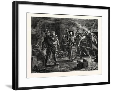 Arrest of the Conspirators at Cirencester--Framed Art Print