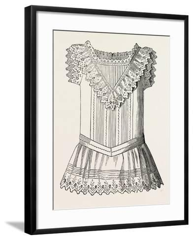 Pinafore for Girl of Three, Front, 1882, Fashion--Framed Art Print