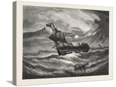 Nearing Home. 1876, Boat, Vessel, Maritime, Sea--Stretched Canvas Print