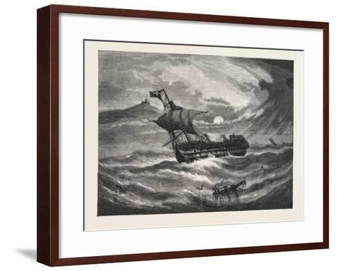 Nearing Home. 1876, Boat, Vessel, Maritime, Sea--Framed Art Print
