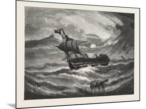 Nearing Home. 1876, Boat, Vessel, Maritime, Sea--Mounted Giclee Print
