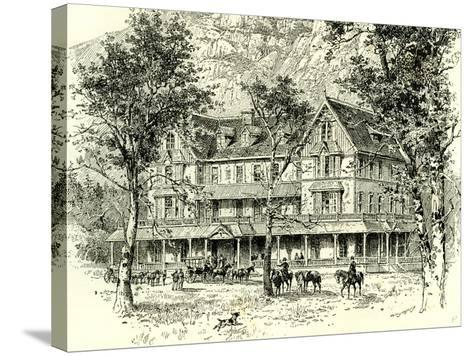 The Stoneman House Yosemite Valley 1891, USA--Stretched Canvas Print