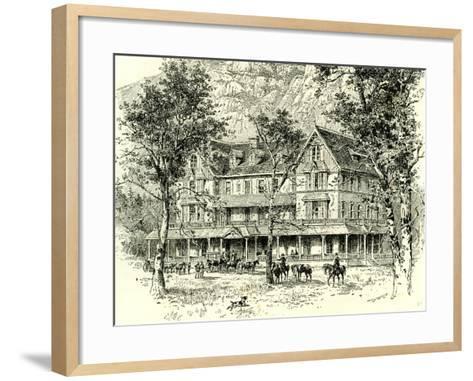 The Stoneman House Yosemite Valley 1891, USA--Framed Art Print