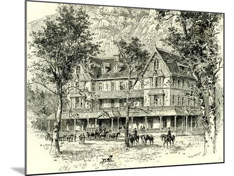 The Stoneman House Yosemite Valley 1891, USA--Mounted Giclee Print