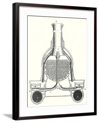 The Front of a Locomotive or the Smokebox--Framed Art Print