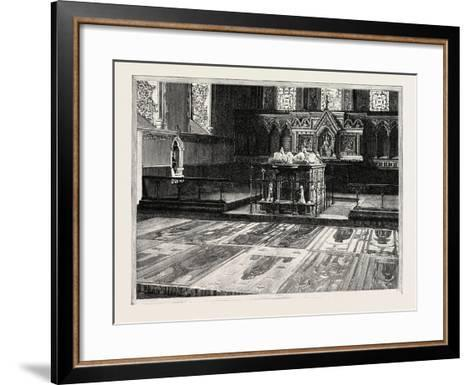 Cobham: the Chancel, with Altar-Tomb and Brasses--Framed Art Print