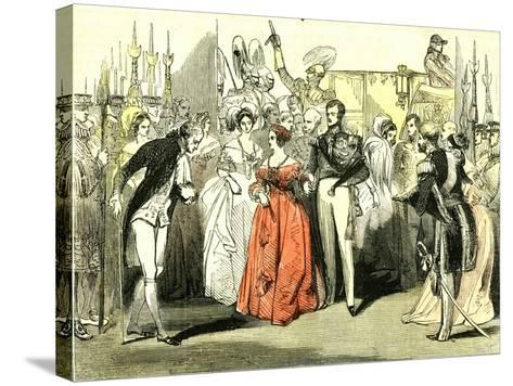 Queen's Visit to the Opera House 1846, London--Stretched Canvas Print