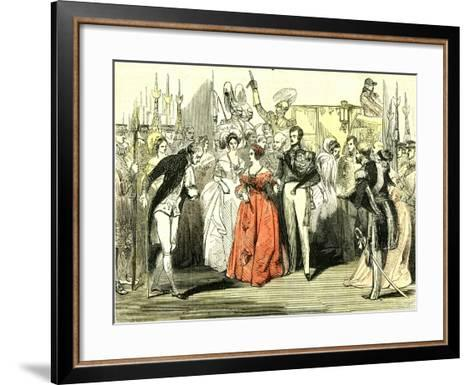 Queen's Visit to the Opera House 1846, London--Framed Art Print