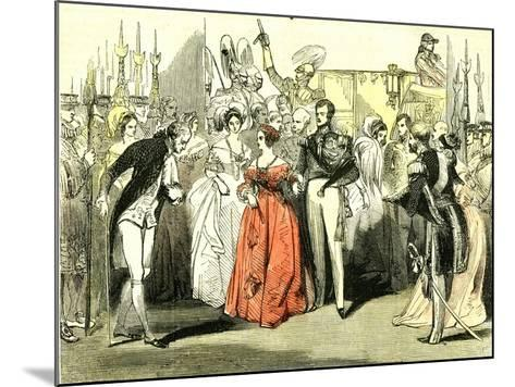 Queen's Visit to the Opera House 1846, London--Mounted Giclee Print
