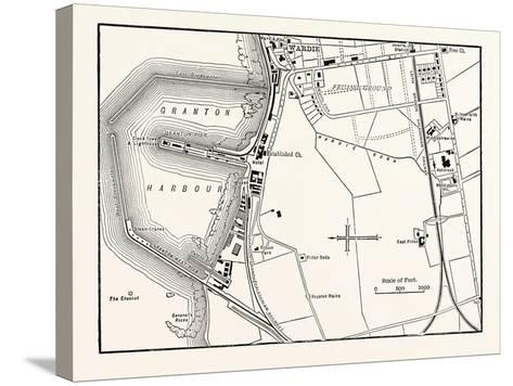 Edinburgh: Map of Granton and Neighbourhood--Stretched Canvas Print