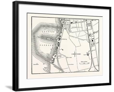 Edinburgh: Map of Granton and Neighbourhood--Framed Art Print