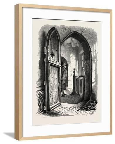 Chamber in Warwick Church, UK, 19th Century--Framed Art Print