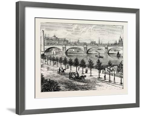 The Thames Embankment and Waterloo Bridge 1895--Framed Art Print