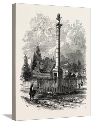 Monument to Wolfe at Quebec, Canada, 1870s--Stretched Canvas Print