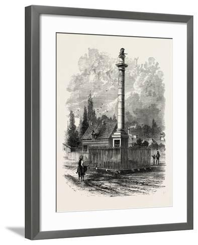 Monument to Wolfe at Quebec, Canada, 1870s--Framed Art Print