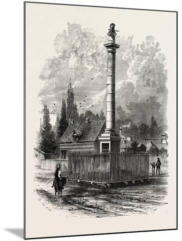 Monument to Wolfe at Quebec, Canada, 1870s--Mounted Giclee Print