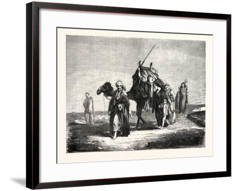 Convoy Funeral in the Desert of Suez, Egypt. 1855--Framed Art Print